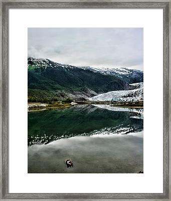 Reflection Of Mendenhall Framed Print by Heather Applegate