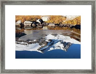 Reflection Of Mount Hoher Zaun Framed Print by Martin Zwick