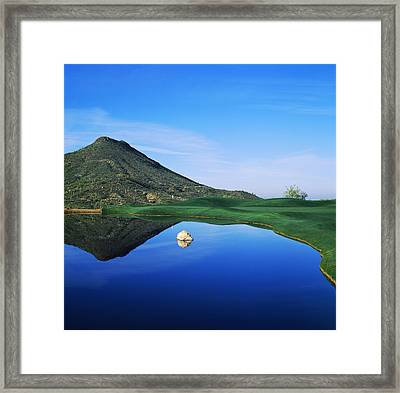 Reflection Of Mountain On Water, Desert Framed Print by Panoramic Images