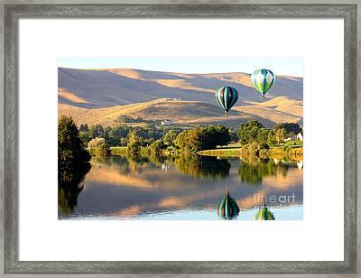 Reflection Of Prosser Hills Framed Print by Carol Groenen