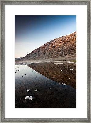 Reflection Of Rock On Water, Western Framed Print