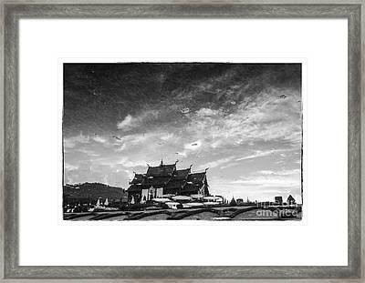 Reflection Of Royal Park Rajapruek Temple In The Water  Framed Print by Setsiri Silapasuwanchai