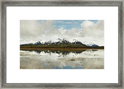 Reflection Of Snowcapped Chugach Framed Print