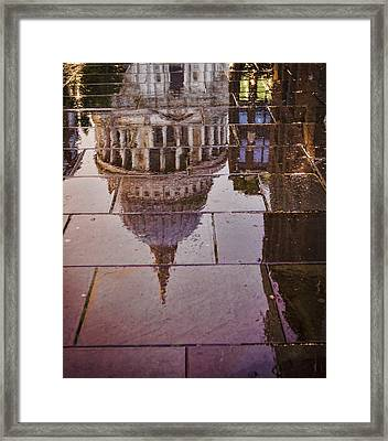 Reflection Of St Pauls Framed Print by Heather Applegate