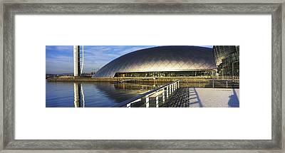 Reflection Of The Glasgow Science Framed Print by Panoramic Images