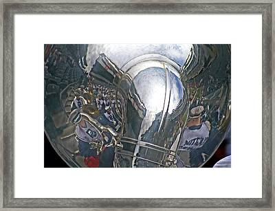 Reflection Of The Marching Band Framed Print by Tom Gari Gallery-Three-Photography