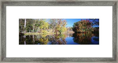 Reflection Of Trees In A Lake, Biltmore Framed Print by Panoramic Images