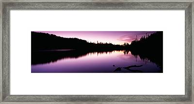 Reflection Of Trees In A Lake, Mt Framed Print by Panoramic Images