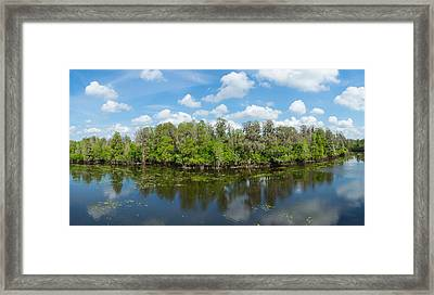 Reflection Of Trees In The River Framed Print by Panoramic Images