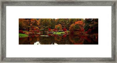 Reflection Of Trees In Water, Japanese Framed Print