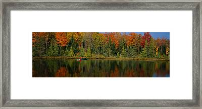 Reflection Of Trees In Water Framed Print by Panoramic Images