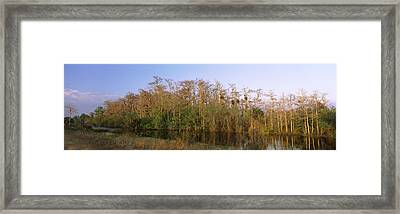 Reflection Of Trees In Water, Turner Framed Print by Panoramic Images