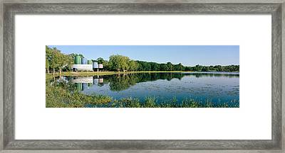 Reflection Of Trees In Water, Warner Framed Print by Panoramic Images