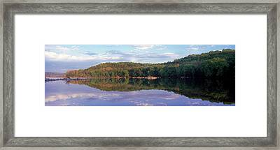Reflection Of Trees On Water, Potomac Framed Print