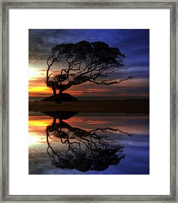 Reflection Of Troubled Times Framed Print