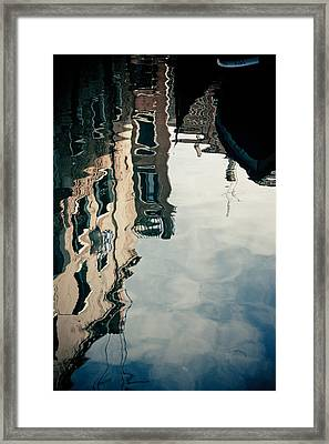Reflection Of Venice On Grand Canal Italy Framed Print