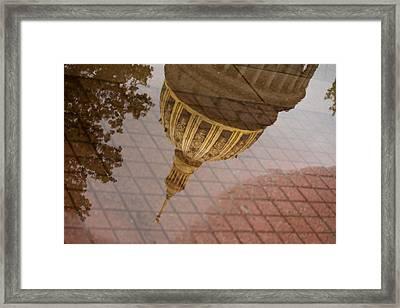 reflection of WV Framed Print
