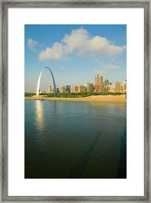 Reflection On Gateway Arch Gateway Framed Print
