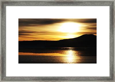 Reflection On Lake Klamath Framed Print by Jennifer Muller