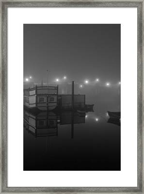Reflection On Misty Thames  Framed Print by Maj Seda