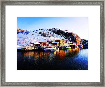 Reflection On Quidi Vidi Lake Framed Print