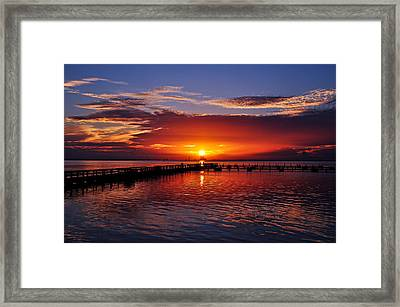 Reflection On The Indian River Framed Print by Davids Digits