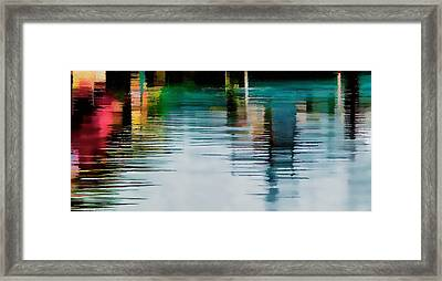 Reflection On The River Framed Print by Pamela Blizzard