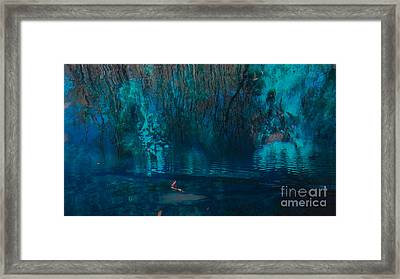 Reflection On The Water Framed Print