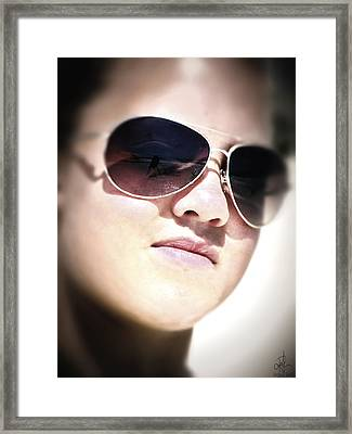 Framed Print featuring the photograph Reflection by Pennie  McCracken