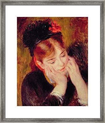 Reflection Framed Print by Pierre Auguste Renoir