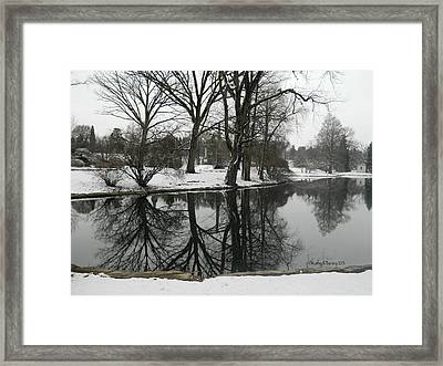 Reflection Pond Spring Grove Cemetery Framed Print by Kathy Barney