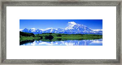 Reflection Pond, Mount Mckinley, Denali Framed Print by Panoramic Images