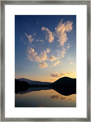 Reflection Pond New Hampshire Framed Print