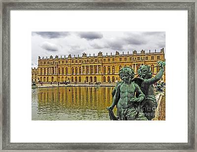 Reflection Pool Of Versailles Framed Print