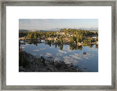 Reflection Pool Near Beartooth Framed Print by Larry Moloney