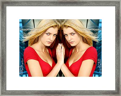 Reflection Framed Print by Rick Buggy