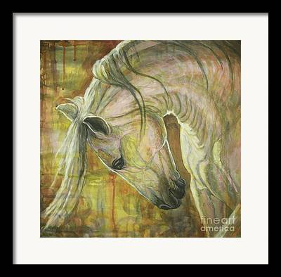 Abstract Horse Framed Prints