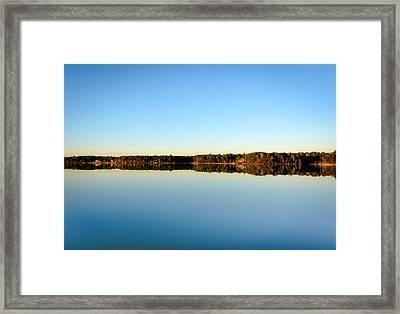 Reflection...lake At Sun Down II Framed Print