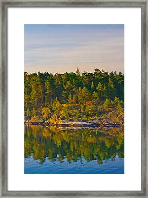 Framed Print featuring the photograph Reflections 2 Sweden by Marianne Campolongo