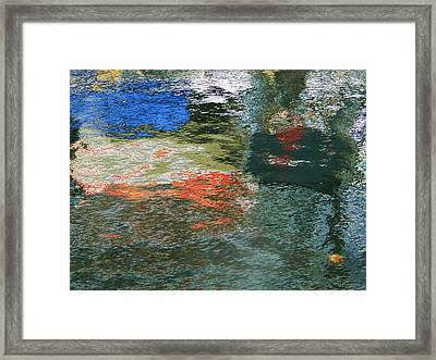 Reflections And Jellyfish In Ketchikan Framed Print by Karen Molenaar Terrell