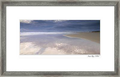 Reflections At Anna Bay Framed Print by Steve Caldwell
