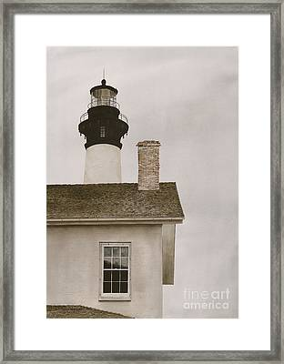 Reflections At Bodie Light Framed Print