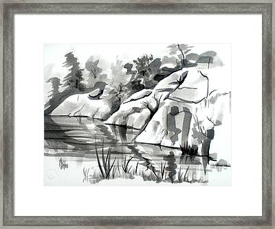Reflections At Elephant Rocks State Park No I102 Framed Print by Kip DeVore