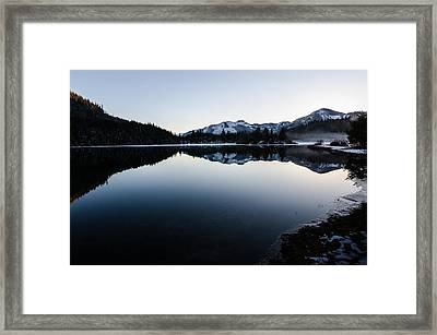 Reflections At Gold Creek Pond Framed Print by Brian Xavier