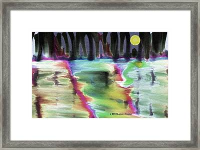 Reflections At Midnight Framed Print by Lenore Senior