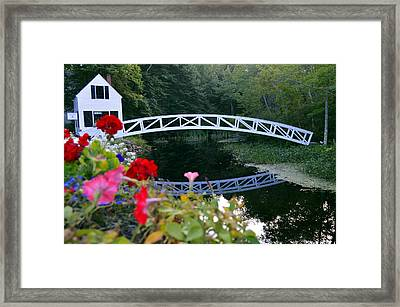 Reflections At Somesville Framed Print by Kim Blaylock