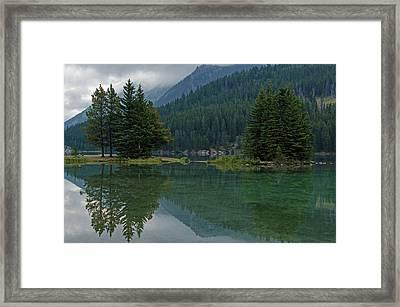 Reflections At Two Jack Lake Framed Print