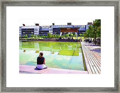 Reflections Framed Print by Audreen Gieger-Hawkins