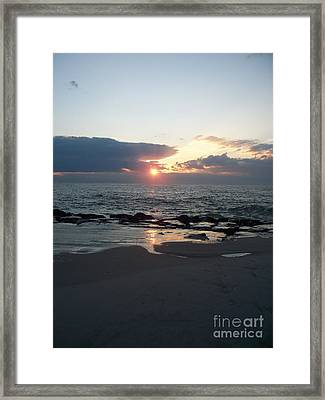Reflections Cape May Point Framed Print by Eric  Schiabor
