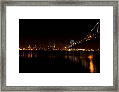 Reflections From Philly Framed Print by David Hahn